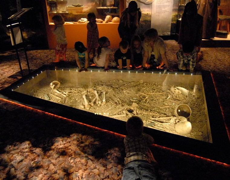 Scandinavian Battle Axe Culture on display in a Swedish museum
