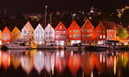 Historical Bergen wharf