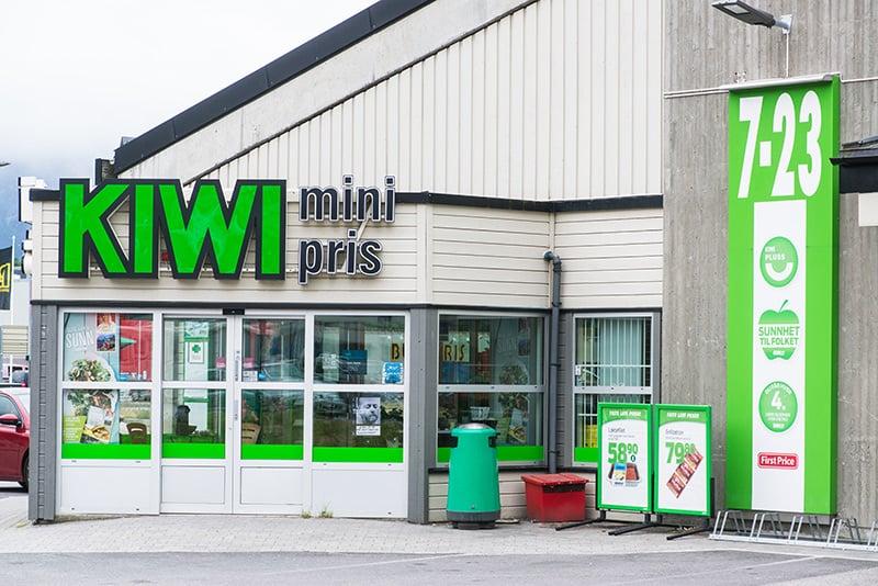 Kiwi supermarket in Norway