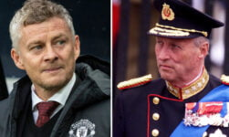 Ole Gunnar Solskjaer and King Harald of Norway