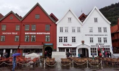 Bergen's Bryggen in the rain
