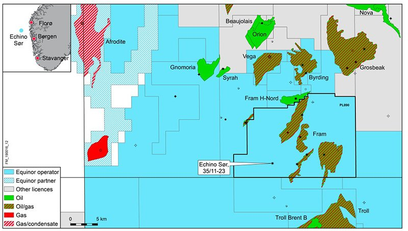 The location of the new Equinor discovery