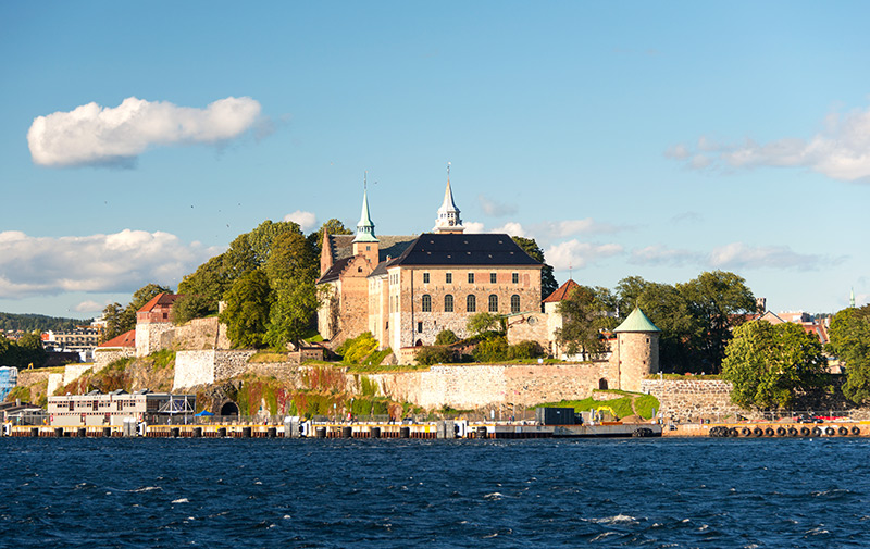 Historic Akershus Castle in Oslo, Norway