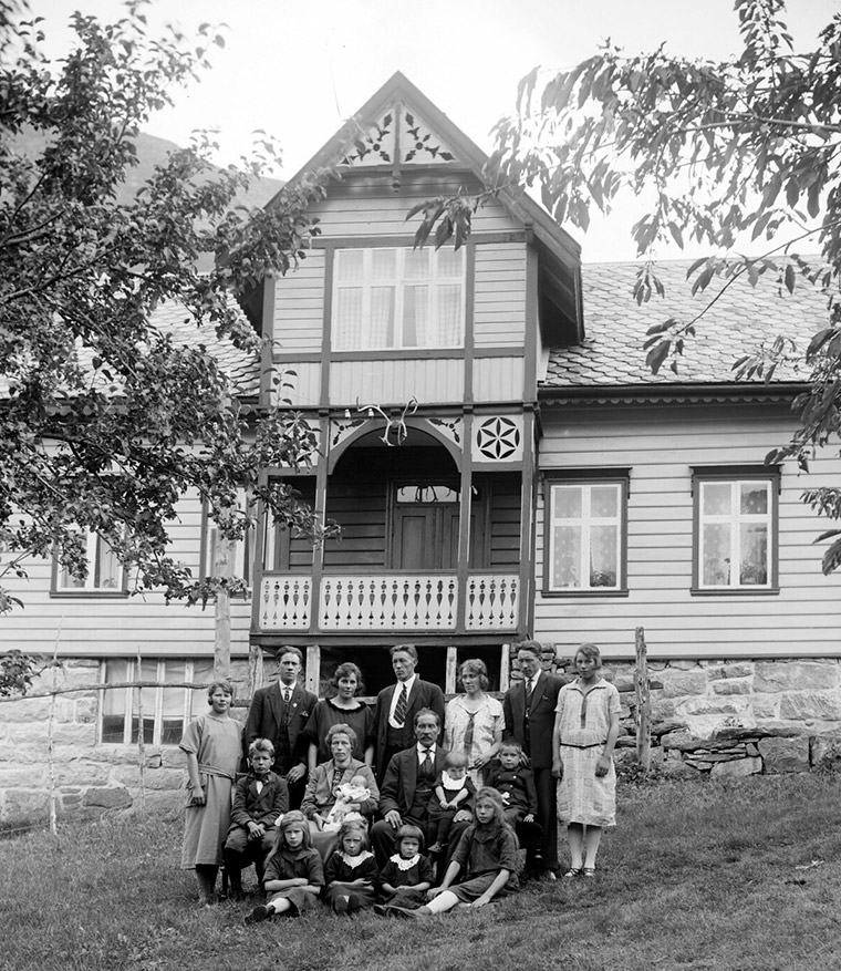 The Meland family of Oppstryn, Norway, circa 1910