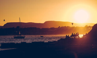 A sunset in the Oslofjord, Norway