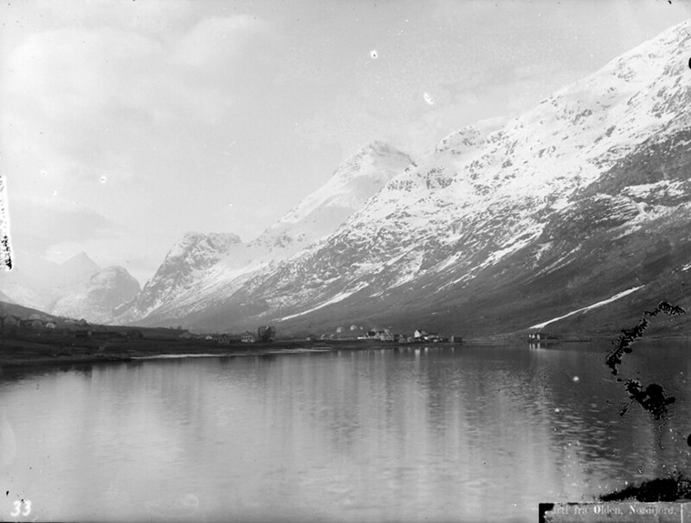 Olden from the Nordfjord in Norway, circa 1900