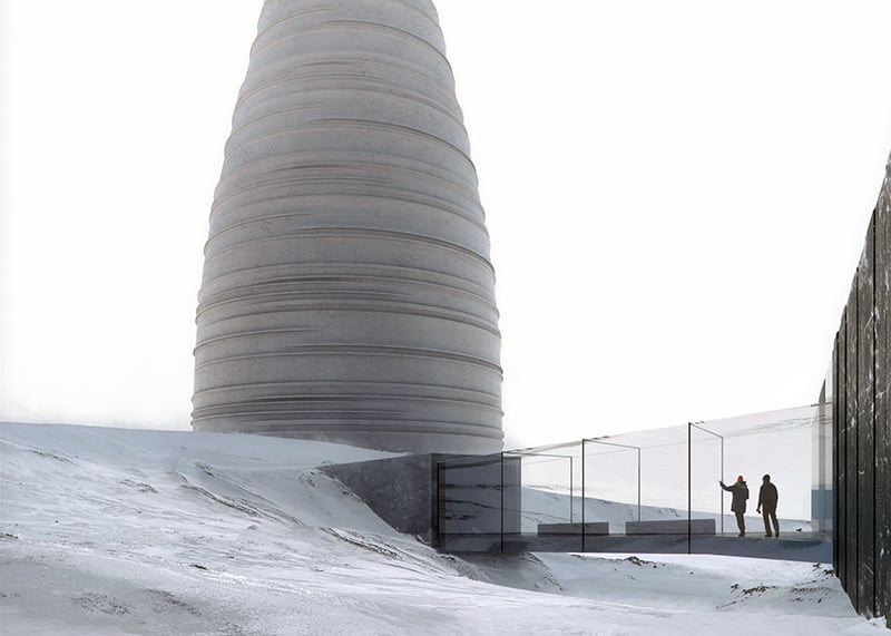 The design for The Arc, an Arctic Visitor Centre