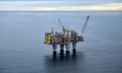Equinor Oil Platform on the Troll Field in Norway