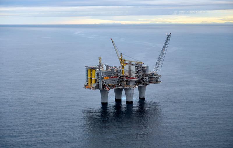 Equinor Oil Platform on the Troll Field in Norway