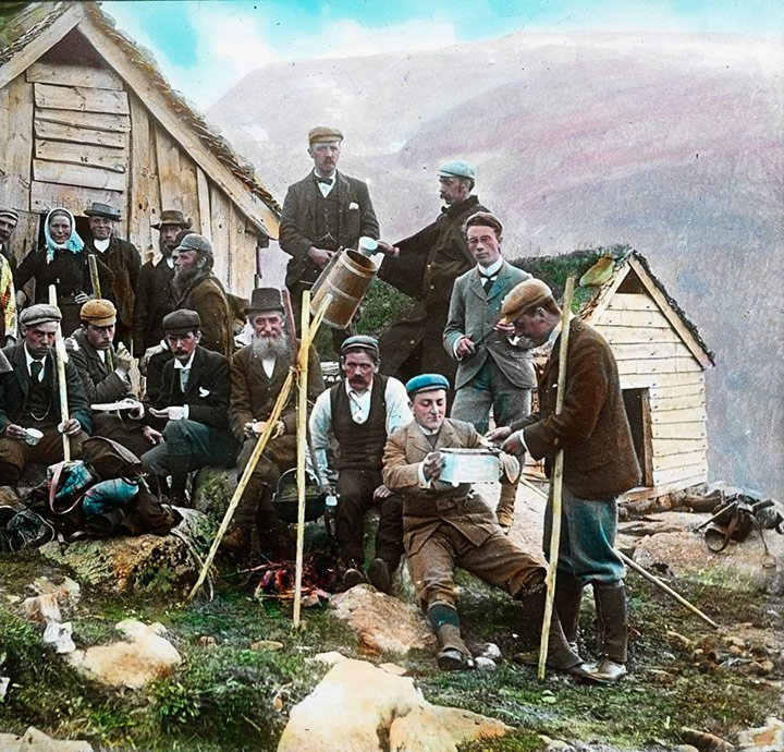 Tourists in Norway around the year 1900