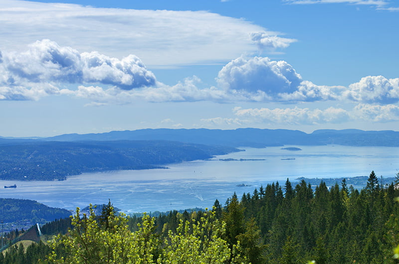 View over the Oslofjord in Norway