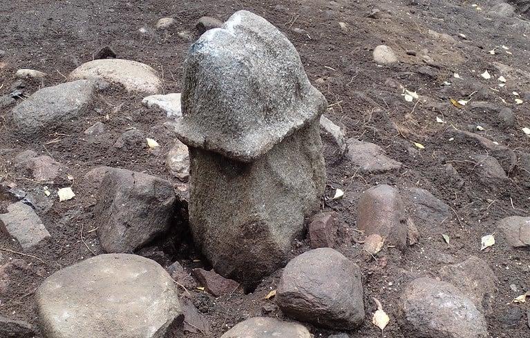 Phallic stone in Rollsbo, Sweden