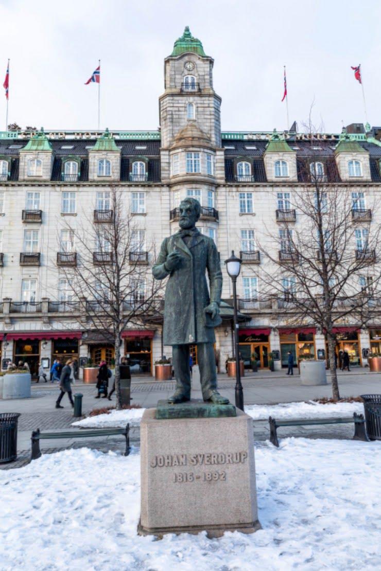Johan Sverdrup statue in Oslo, Norway