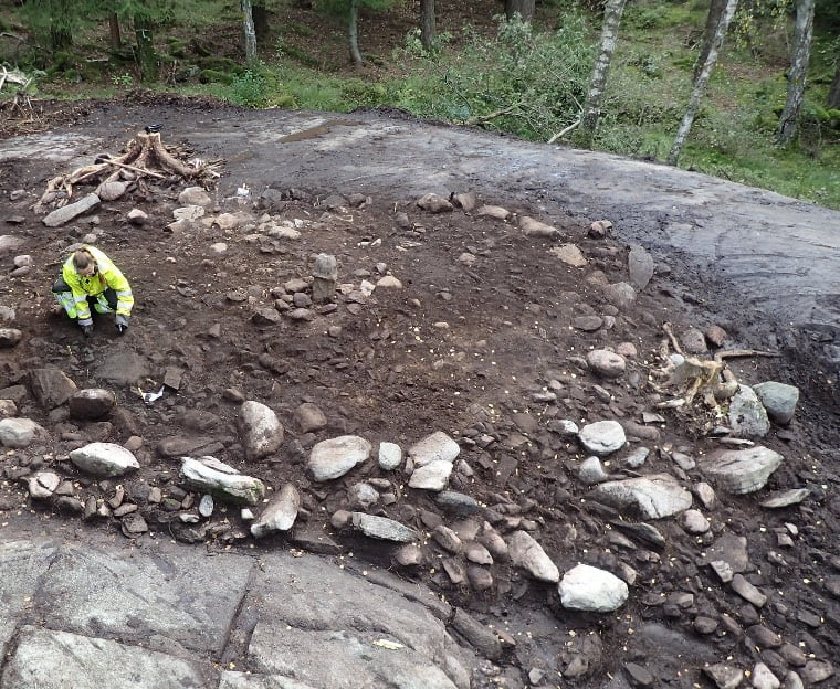 Archaeologists work in Rollsbo, Sweden