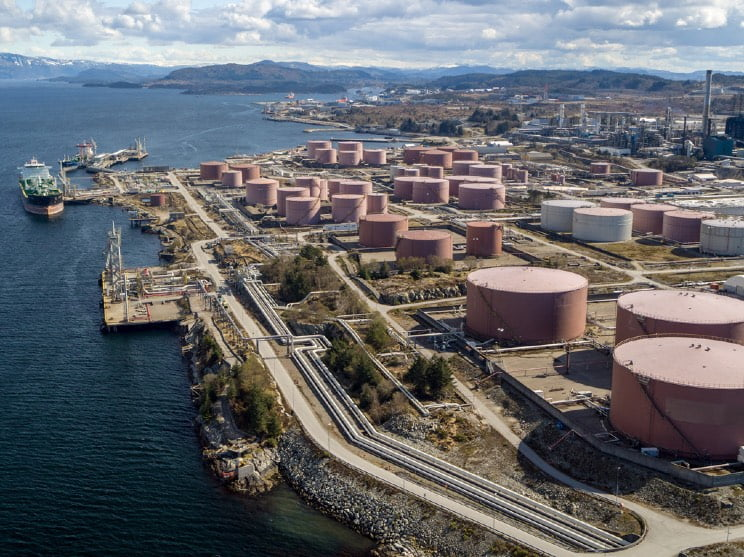 Mongstad oil refinery in Norway