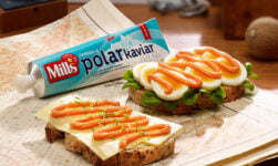 Norwegian lunch food: Mills Polar Kaviar in a tube