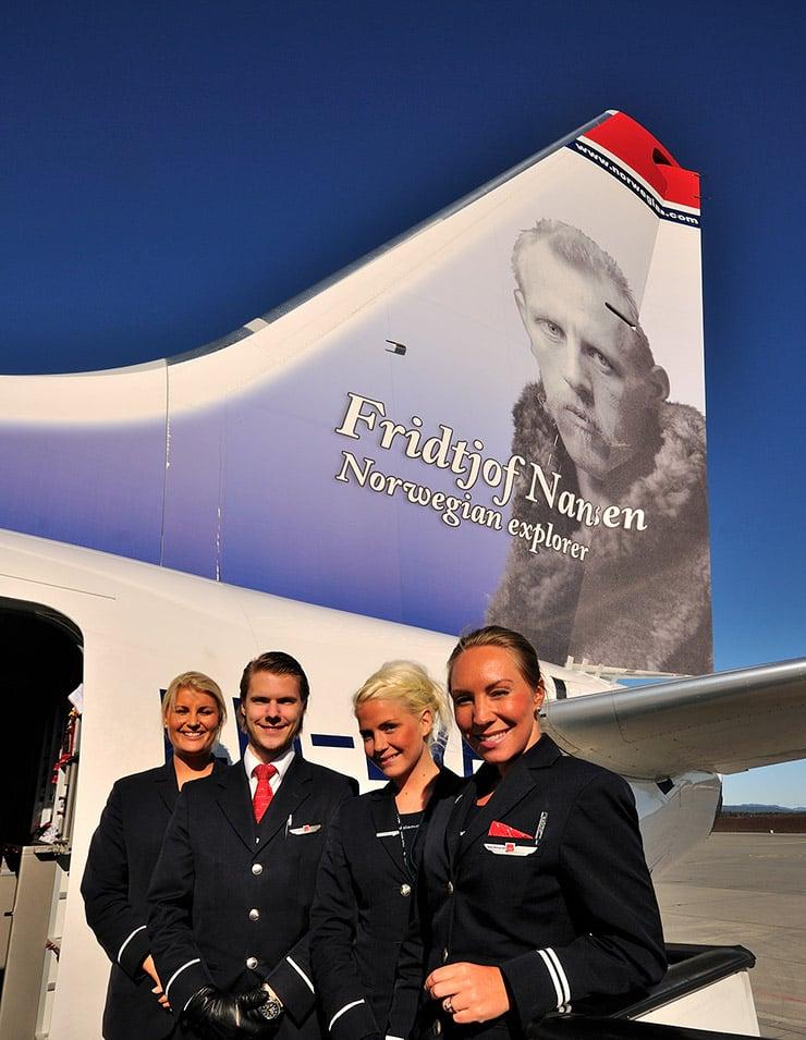 Norwegian plane featuring Fridtjof Nansen on the tail-fin