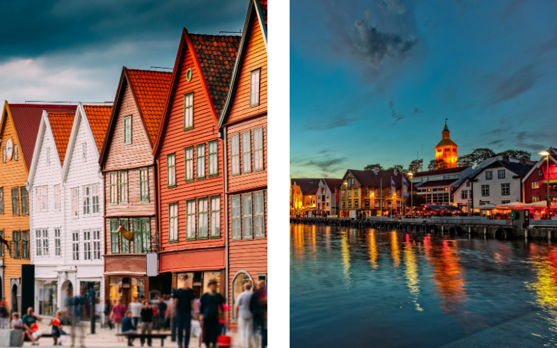 Bergen and Stavanger in Norway