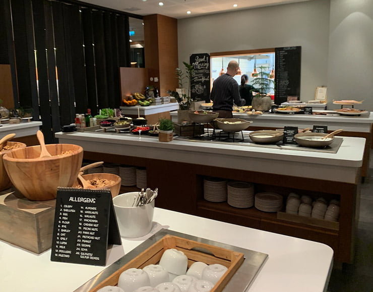 Breakfast buffet at the Radisson Blu hotel in Bergen