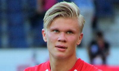 Norwegian footballer Erling Braut Haaland