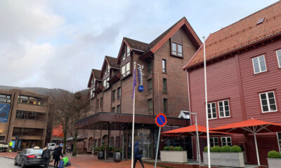 The exterior of the Radisson Blu Royal Hotel in Bergen, Norway