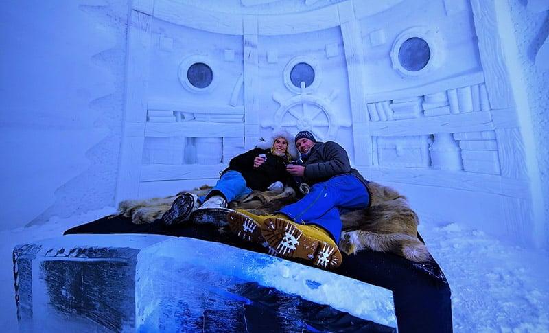 Guest room at Kirkenes Snow Hotel in Norway