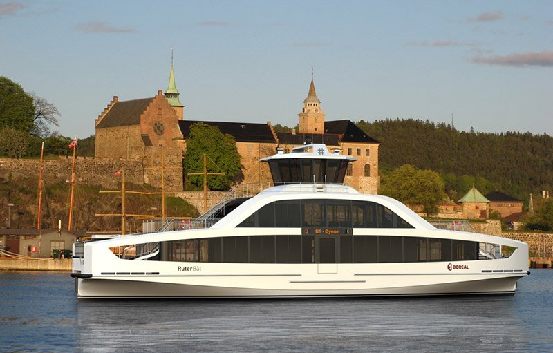 A new electric passenger ferry in Norway's Oslofjord