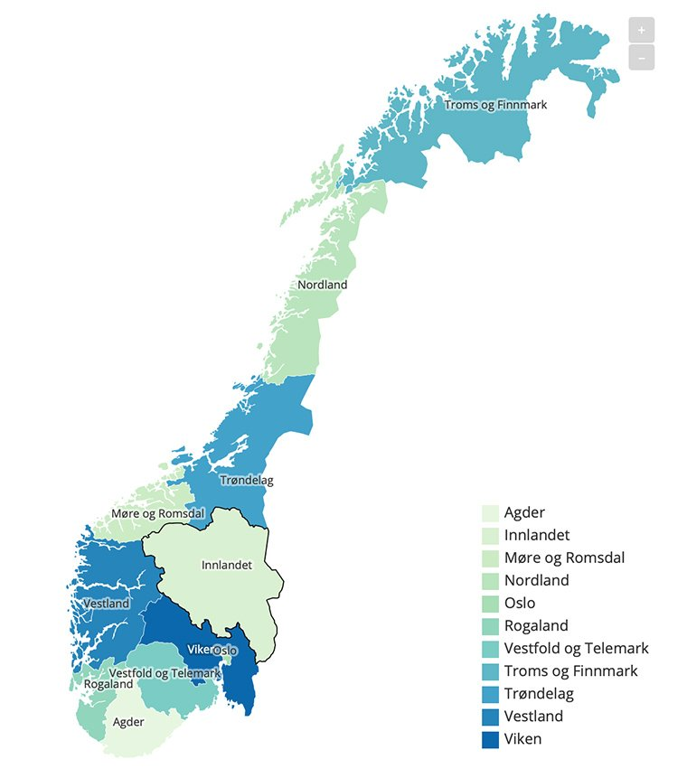 A New Map of Norway: Meet Norway's New Counties