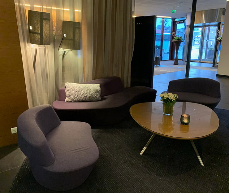 The lobby of the Radisson Blu Royal Hotel in Bergen