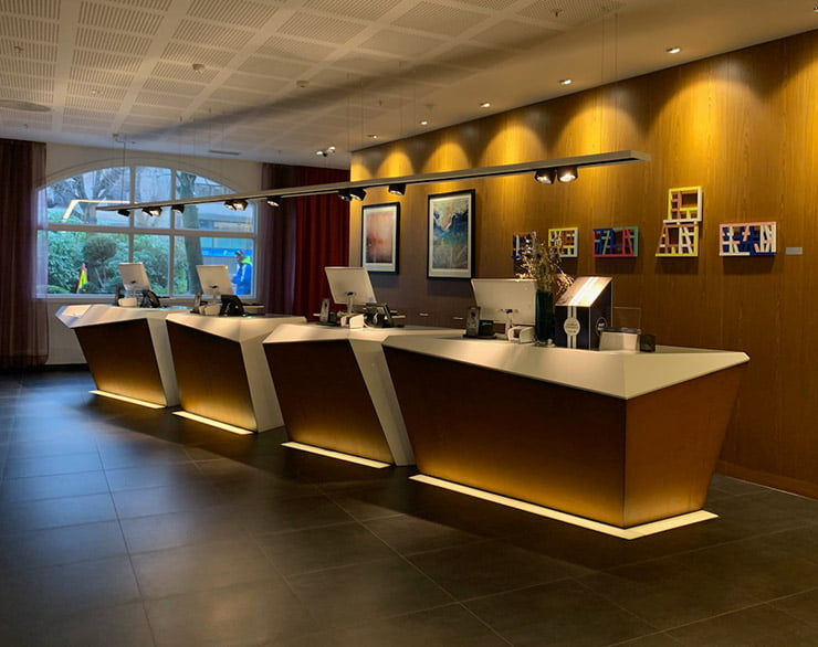 Hotel reception of the Radisson Blu Bergen