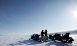 Snowmobile tour on Svalbard, Norway