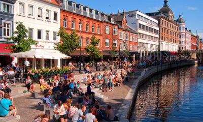 Canal scene in Aarhus, Denmark