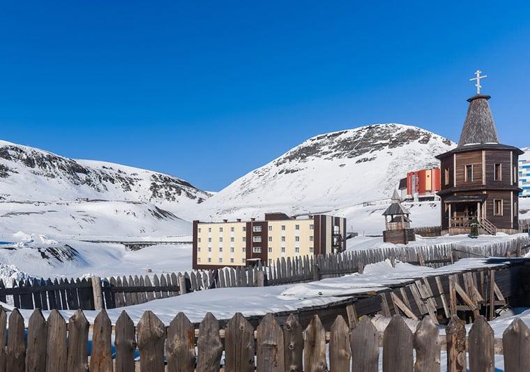 Barentsburg, the Russian settlement in Svalbard