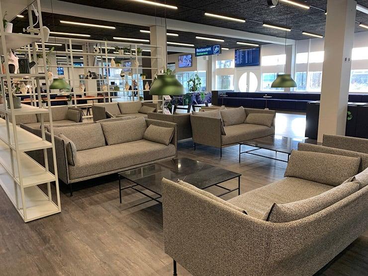 Departure lounge of Aarhus Airport