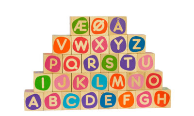 Learn Norwegian letter blocks