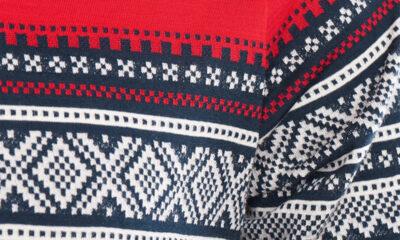 The Norwegian marius knitting pattern on a sweatshirt