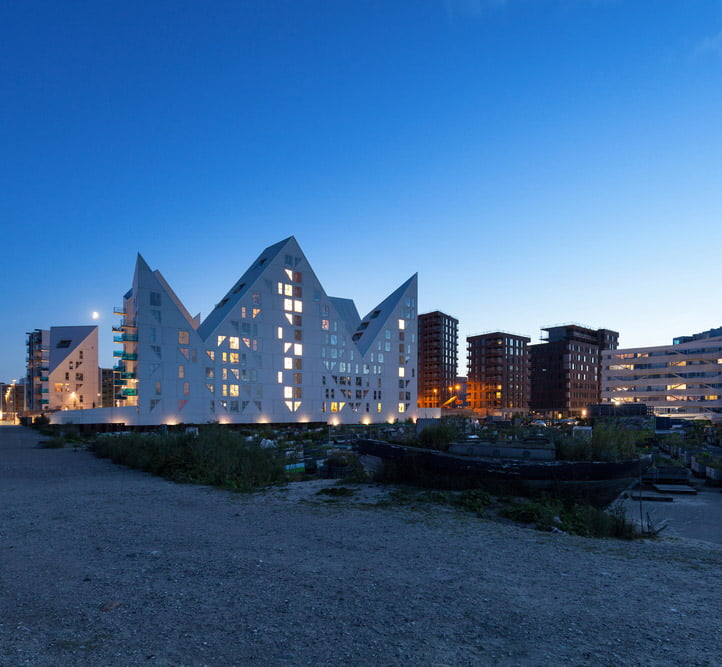 Modern residential apartment building in Aarhus, Denmark