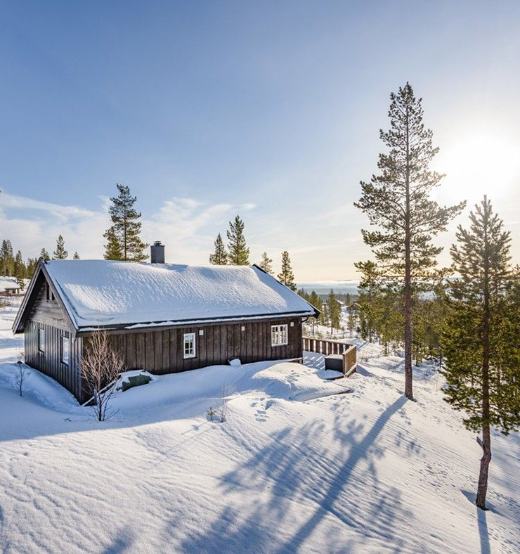 Norwegian mountain cabin in Osen