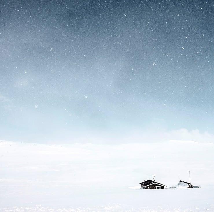 A remote mountain cabin near Geilo, Norway