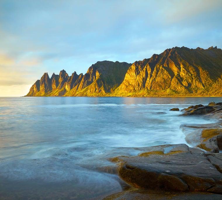 Okshornan mountains on Senja island, Norway
