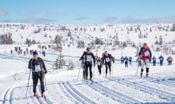 Participants in Norway's Birken Ski Marathon