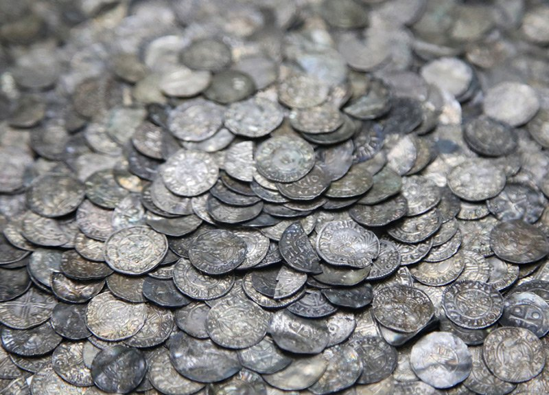 Old silver Viking coins