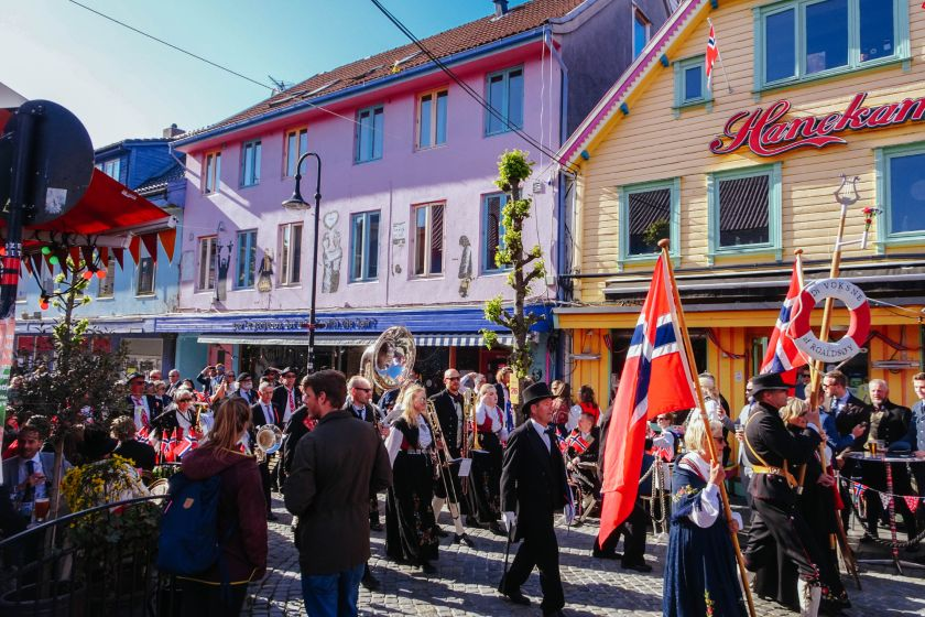 Norway National Day May 17 Parade in Stavanger