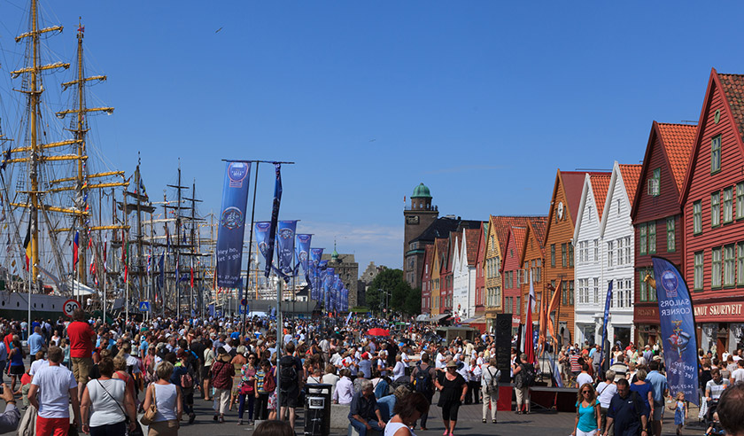 Bergen Tall Ship Races event in Norway
