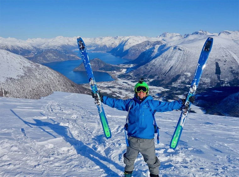 Easter skiing in the mountains of Norway