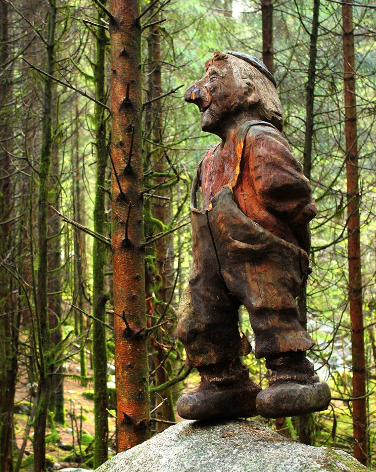 Eventyrskogen the fairytale forest near Stavanger in southwest Norway