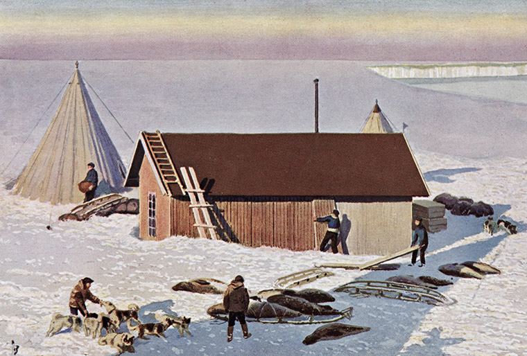 Amundsen's base camp Framheim in January 1911