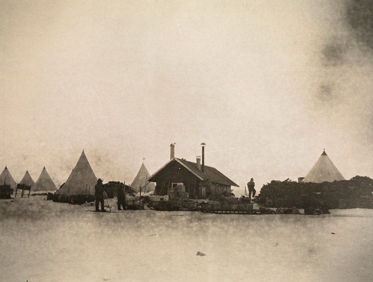 Roald Amundsen's Framheim base camp for his South Pole expedition.