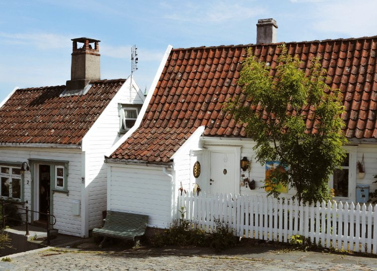 Houses in the old Stavanger district