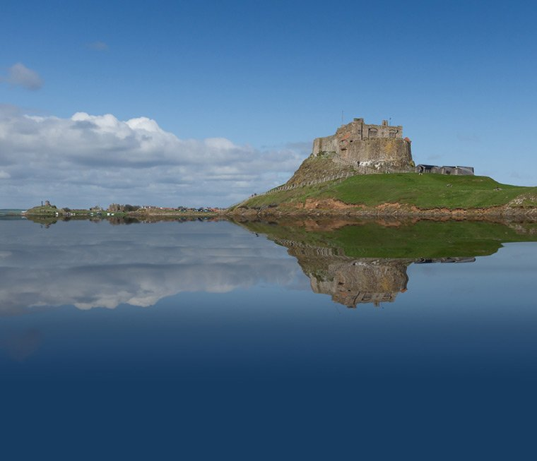 Lindisfarne Castle today on Holy Island, England